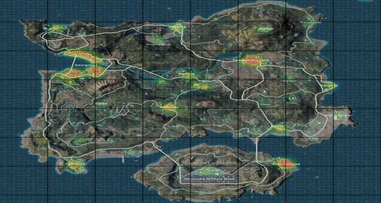Erangel Loot Map