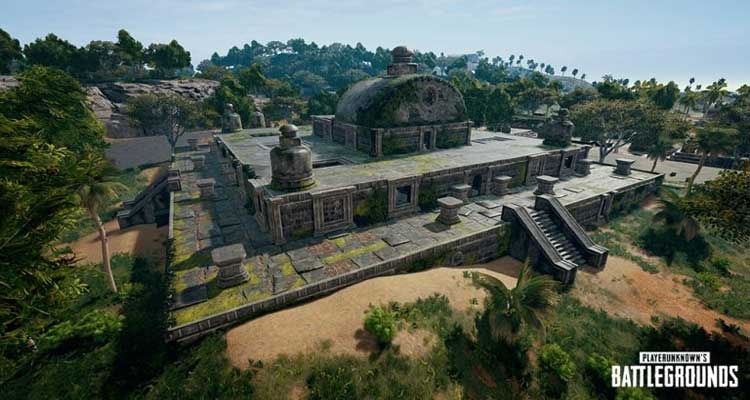The place is an abandoned temple on the map